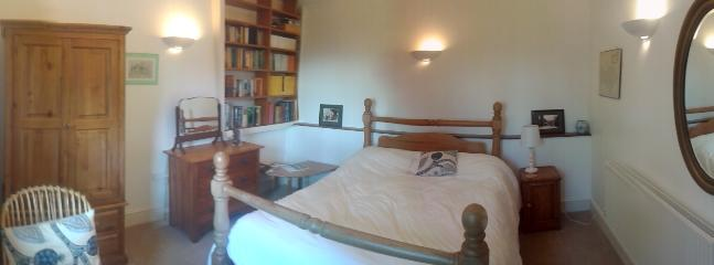 the double room with very comfy pine bed, overlooking the garden