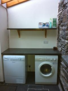 Utility room for washing & drying, and handy for kicking off those walking boots