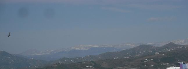 Roof Terrace view of snow capped monutains to the North