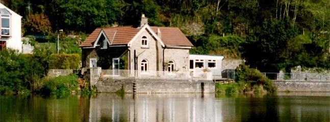 Riverside Cottage, Tintern, Monmouthshire from across the river.