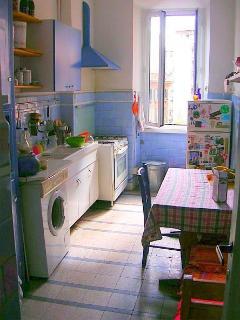 kitchen (washing machine on the left)