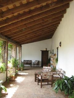 Cloister, perfect for relaxing and enjoying the views of Jimena