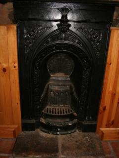 Beautiful original fireplace in bedroom
