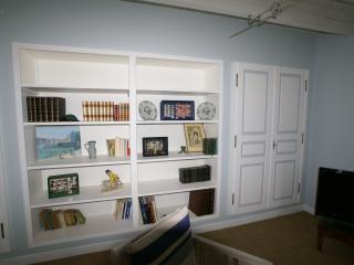 La bibliothèque dans le salon