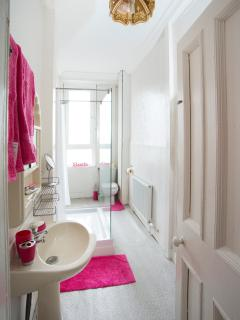 Modern bathroom with state if the art shower