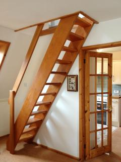 Staircase (narrow) to upstairs
