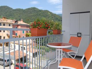 Colorfully apartment along the bicycle path, Vittorio Veneto
