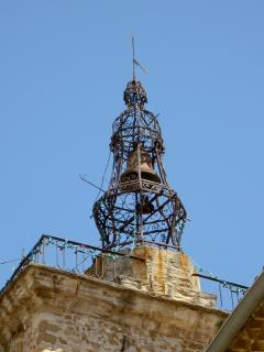 Delightful wrought iron bell towers feature on many churches