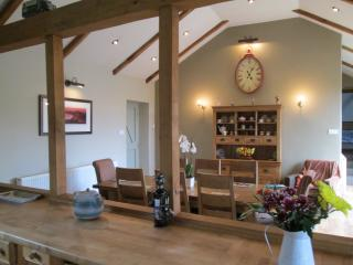 Dining area from the open plan kitchen