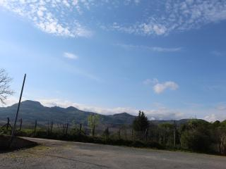 View towards the Moelwyn mountains from the front of the cottage