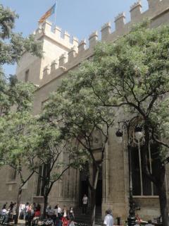 La Lonja Unesco world heritage building opposite the CEntral Market at 250m