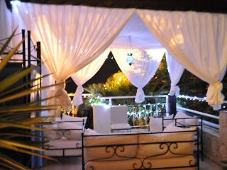 Manzarali's Romantic Pergola. Enjoy a BBQ on the side balcony  with a glass of chilled wine