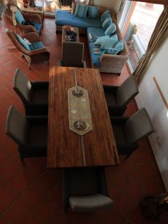 Dining table seats 8 persons
