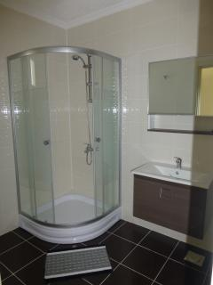 master bathroom, with shower and washing machine facilities