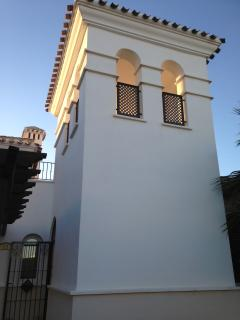 Turret to upstairs sun terrace. Accessed directly from the villa hallway, security gated for privacy