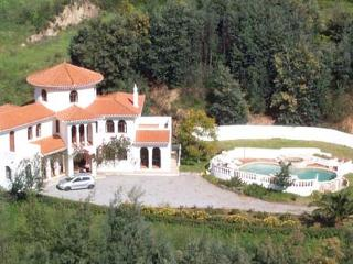 The villa from its own hilltop
