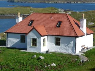 A peaceful haven Red House or Tigh Dearg with its iconic red roof  renovated from an old blackhouse