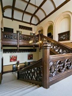 The main staircase in the 'Great Hall'