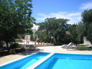 Trullo and studio area looking from the pool, with its sloping ramp for easy access