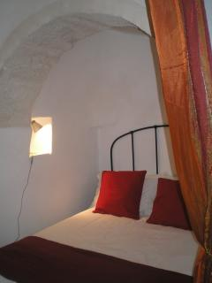 Cosy main bedroom under stone cone