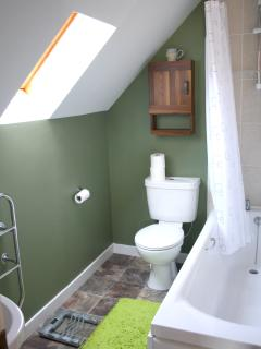bathroom, upstairs master bedroom