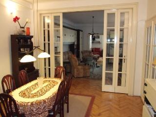 Middle room with dining table and sofa bed