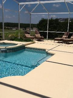 SOUTH FACING POOL WITH WHIRLPOOL/ HOT TUB