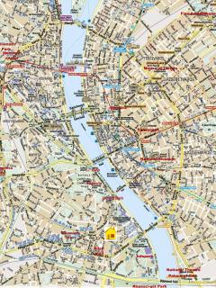 Center of Budapest with location of our apartment
