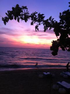 fantastic sunsets,with many beach restaurants to see the sun go down