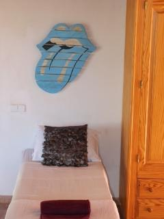 Upstairs double or triple room with private balcony, terrace and ensuite