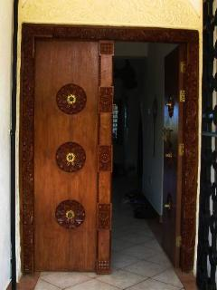 The Lamu carved front door