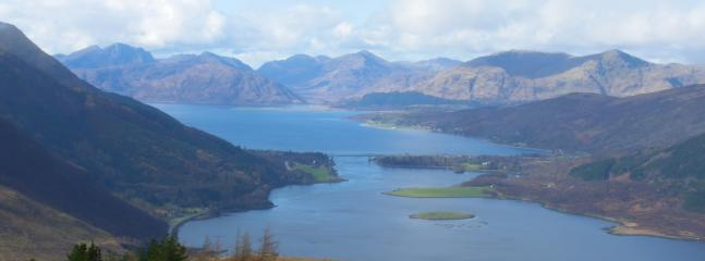 Loch Leven and mountains from above Glencoe