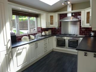 The well equipped, fully fitted kitchen with everything you could need and more.