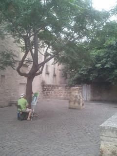 placette dans vieille ville