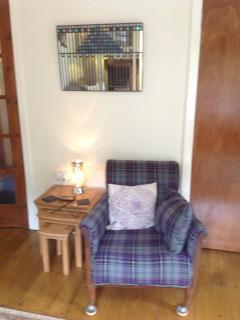 Scottish themed living area
