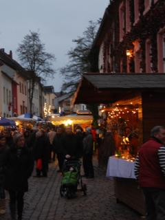 Christmas market in village