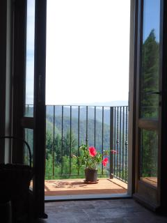 French windows onto balcony