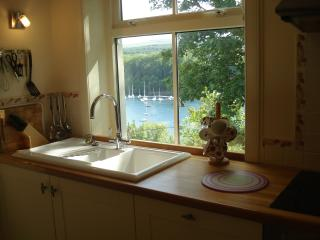 A kitchen sink with a view !