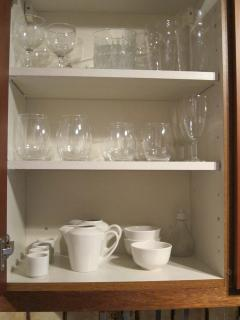Cupboards and their contents are all checked between guests.