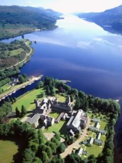 The Highland Club, set on the waters of Loch Ness