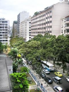 The street and surround area. Going down the street you get to Copacabana beach