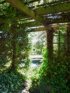 The entrance to the garden with..