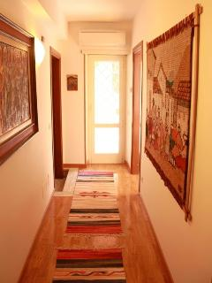 The corridor to the terrace