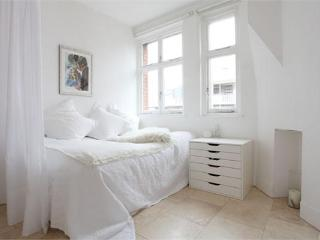 The bedroom - more light and airy and cosy too, with a very comfy double bed.