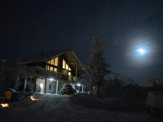 the house at the night (with the moon)