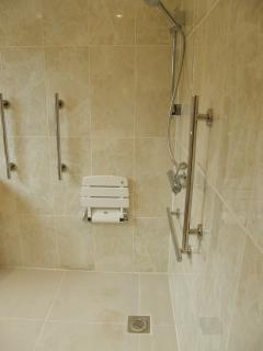 ground floor wet room suitable for guests with limited mobility