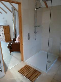 Bathroom 1 with large walk in shower