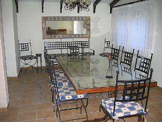 One of the dining areas at the Villa.