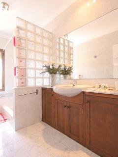 A large family bathroom