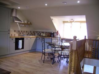 Another shot of the light and airy kitchen and dining space